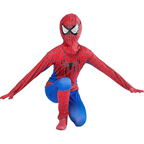 KOUYNHK Kinder Legenden Spiderman Homecoming Kostüm Spandex Zentai Spider Man Der Erstaunliche Spiderman Cosplay Anzug Kinder Junge,Child-L (Erstaunlich Kostüm Für Jungen)