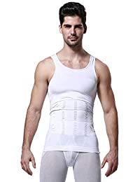 Wearslim Men's Slimming Body Shaper Vest Shirt Abs Abdomen Slim Stretchable Tummy Tucker Vest