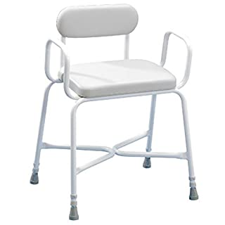 Performance Health Sherwood Plus Bariatric Shower Stool with Perching Arms and Back