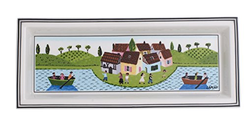 Villeroy & Boch Design Naif Gifts Coupelle rectangulaire, Porcelaine Premium, Blanc/Multicolore