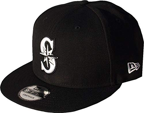ners MLB Black White Logo Snapback Cap 9fifty Limited Edition ()