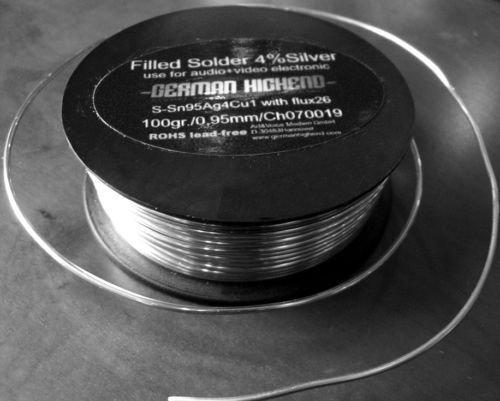 GERMAN HIGHEND Silberlot, silberhaltiges Lötzinn für höchstwertige Verbindungen (Für Elektronik Silber-lötzinn)