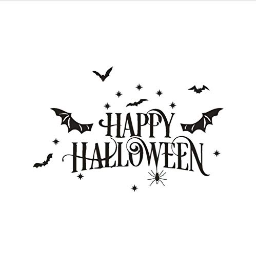 rs Stickers 2017 Fashion Design Wall Stickers Happy Halloween Pumpkin Bone Wall Stickers Window Home Decoration Decal Decoration 60 * 40Cm ()
