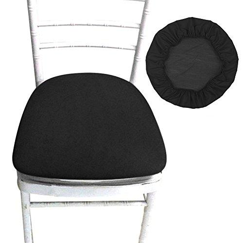 Stuhl Sitzbezug, Küche Esszimmerstuhl Sitzbezug Schonbezug Stretch Schutzhülle elastisch abnehmbar waschbar für runde und quadratische Stuhl, 4er Set (Sitzbezüge Esszimmerstuhl)