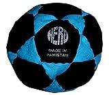 Hacky Sack/Footbag con consejos y instrucciones de juego - Hero 32-Panel, Black & Blue Neon, Black & Blue Neon