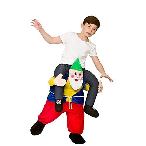 Carry Me FUNNY GNOME / DWARF 8-10 Years for Fancy dress - Halloween-kostüme Funny Wicked