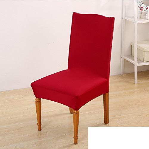 Sishe Stuhl Silpcover Verbundener Stuhlbezug aus elastischem Stoff [Feste Rutschfeste Stuhlsets] -H by (Farbe : H)
