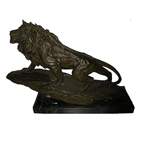 Toperkin Lion Statue African Figurines Home Decor Animals Bronze Sculptures Statues TPY-678