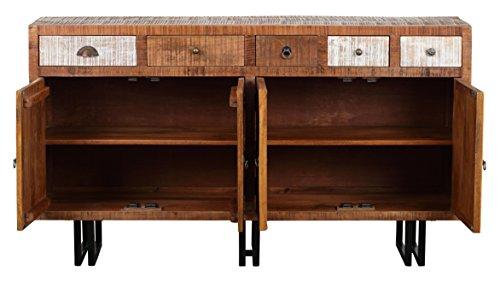 The Wood Times Sideboard Vintage Wohnzimmerschrank Massiv New Rustic Mangoholz, FSC Zertifiziert, BxHxT 160x90x40 cm - 3