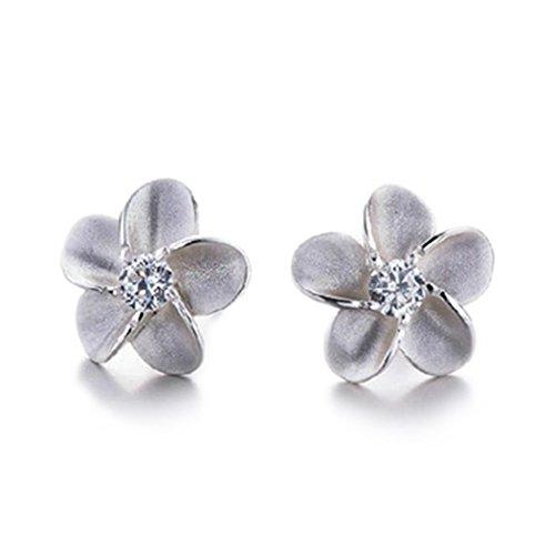Tempo usuraio Elegance Scrub Bauhinia semplice in argento Sterling Fashion Lady Orecchini a perno