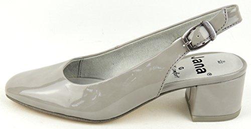 Donne slingbacks Jana grigio taglia da 37 a 42 a livello di G AntiShokk lt. grey patent