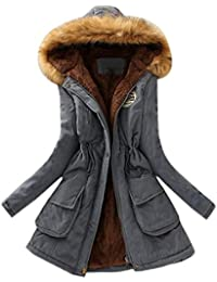 569e6cfad87a Reaso Manteaux Hiver Femme Parka Elegant Pullover Chaud Veste à Capuche  Manteau Tunique Manches Longue Grande