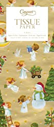 Entertaining with Caspari The Spirit of Christmas Gold Tissue Paper, Package of 4 Sheets