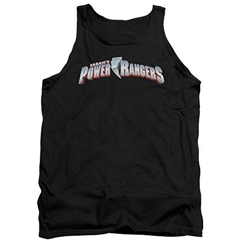 Power Rangers - - Nouveau logo pour homme Débardeur, Small, Black