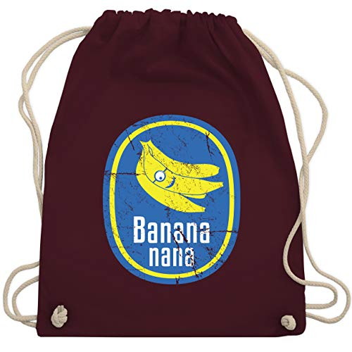 Comic Shirts - Banana nana Vintage - Unisize - Bordeauxrot - WM110 - Turnbeutel & Gym Bag -