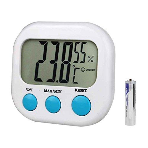 Pegcdu CX-202 della Temperatura Interna del termometro Mini Digital Tester di umidità del Calibro di LCD Display Stazione Meteo