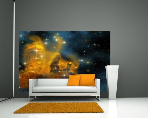 selbstklebende Fototapete - Nebula Galaxie - 225x150 cm - Tapete mit Kleber – Wandtapete – Poster – Dekoration – Wandbild – Wandposter –...