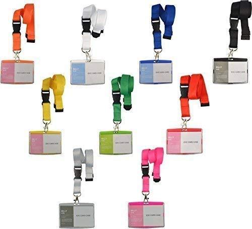 Schlüsselband Lanyard mit Kartenhülle Ausweishalter Namensschild Ausweishülle neu (schwarz)