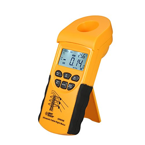 Jusheng Ultraschallkabel Höhenmesser 6 Kabel Messung LCD-Display Messbereich (Höhe 3-23m, Ebene 3-15m) - Ziel Gauge 12