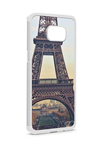 Samsung Galaxy S9 Paris Eifelturm SILIKON Flipcase Tasche Hülle Case Cover Schutz Handy Weiss