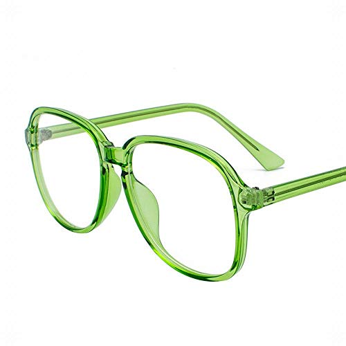 WULE-RYP Polarisierte Sonnenbrille mit UV-Schutz Vintage Persönlichkeit rundes Gesicht klare Gläser Rahmen für Frauen, kein Abschluss. Superleichtes Rahmen-Fischen, das Golf fährt (Farbe : Grün)
