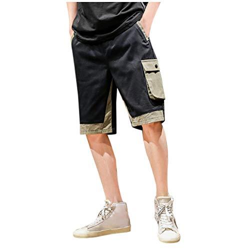 Herrentasche Baumwolle Multi Pocket Overalls Shorts Fashion Pant Solid Color Multi Pocket Shorts Army Green Black M/L/XL/2XL/3XL/4XL/5XL