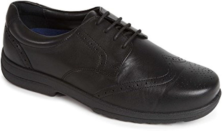 padders dominic   cuir et - chaussures noires extra - et large accent c3d3db