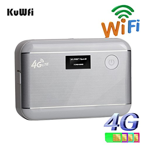 kuwfi sbloccato 100Mbps 5200mAh Power Bank portatile router mobile WiFi