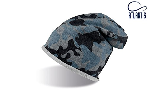 DOOZY CAMOUFLAGE Cuffia Lunga Long Beanie Palestra UNISEX Berretto Cap