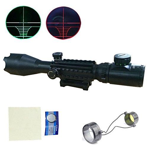 MCTECH® 4-16x50EG Zielfernrohr Rot Und Grün Taktische Luftgewehr Armbrust Rifle Scope Luftscharfschützen Airsoft + 11mm/20mm Montagen für Jagd und Sport (4-16x50EG mit 22mm Montage) (Scope Airsoft)