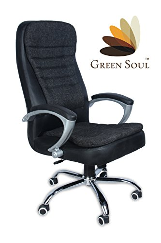 (Akshaya Tritiya Offer Save Rs. 7000) Best Seller High-Back Office Chair (Black) by Green Soul