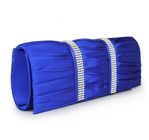 Frizione Delle Donne Sacchetto Della Signora Frizioni Borse Fiore Frizione Del Partito Di Sera Blue