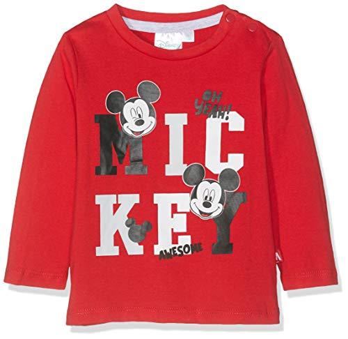 Disney Mickey Baby-Jungen 4731 T-Shirt, Rot Rouge, 18-24 (Herstellergröße: 24 ()
