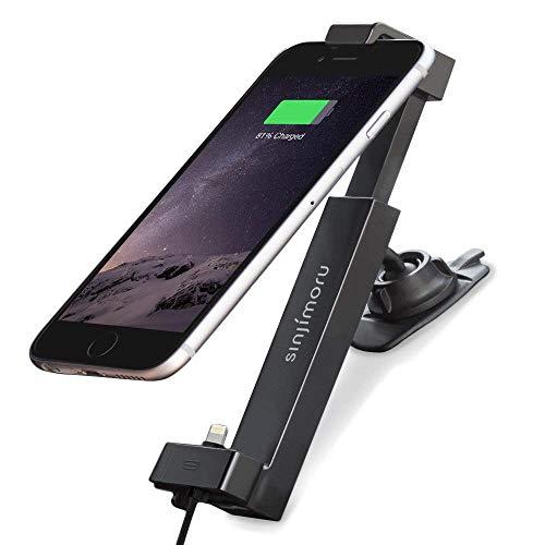 Sinjimoru Handyhalterung fürs Auto, 360° drehbar Handyhalterung Auto inkl. Lightning Kabel kompatibel mit iPhone [MFI Zertifiziert], Autohalterung mit Ladekabel, Sinji Car Kit, iPhone MFI Basic Paket. (Car Kit Für Iphone 5s)