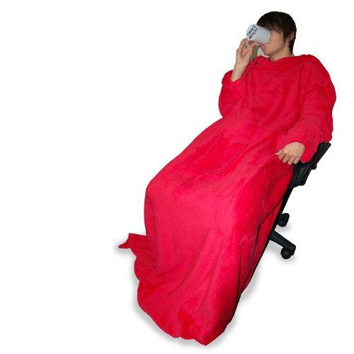 Thumbs Up HUGZDRD Hugz Deluxe, Coral Fleece Decke, Blazing red