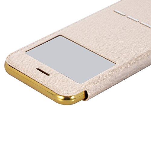 iPhone 8/iPhone 7 Custodia Pelle Folio e Glitter Bling Strass 3D DIY con Cinghie di telefono - Bonice Case Fatto a Mano Diamonte,PU Leather Con Super Sottile TPU Cover Interno,Morbido Protettiva Porta model 02