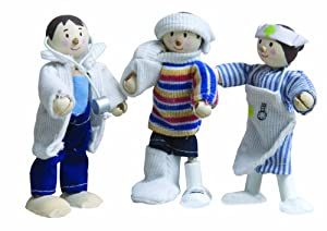- Juego de 3 muñecas Budkins hospital de flexión de muñecas