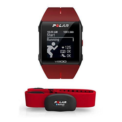 Polar V800 HR - Reloj deportivo GPS y sensor de frecuencia cardíaca H7 HR, color rojo