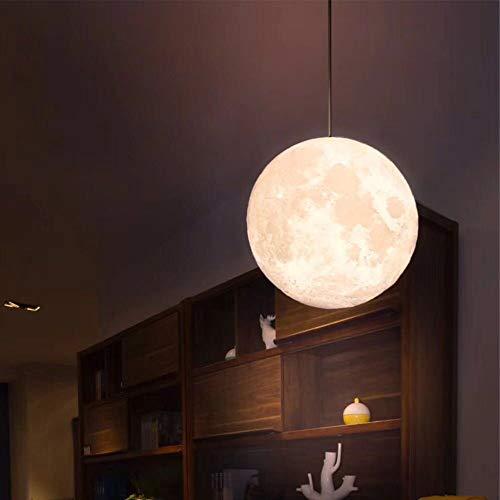 LEERAIN Hängend 3D Mondlampe, 16 Farbe Mond Nachtlicht, Leuchter Mondlichter, Led Mond Tischlampe, Haus Dekoration Kinder Liebhaber Geburtstag Party/Weihnachten Geschenk,20cm