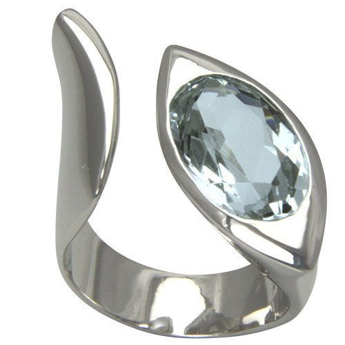 Aquamarin Ring Oval 16x10 mm (Sterlingsilber 925) Aquamarinring verstellbar