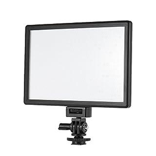 Andoer VILTROX L116T Profi Ultra-Dünnen LED-Videoleuchte Fotografie Aufhellen Helligkeit und Dual Color Temp. Max Helligkeit 987LM 3300K-5600K CRI95 + für Canon Nikon Sony Panasonic DSLR