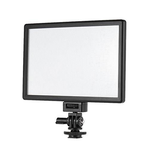 Andoer VILTROX L116B Profi ultra-dünnen LED-Videoleuchte Fotografie Fill Light Adjustable Helligkeit Max Helligkeit 1002LM 5400K CRI95 + für Canon Nikon Sony Panasonic DSLR Kamera und Camcorder Canon-camcorder-paket