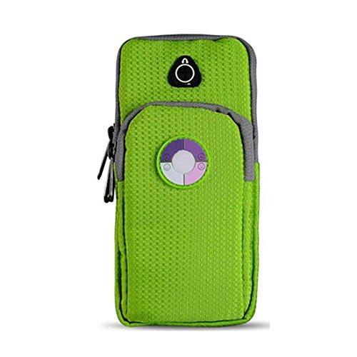 smartec24® Sportarmband für iPhone 7 in schwarz Wasserresistente Armtasche extra comfortabel zu tragen mit Flex-Verschluss und Öffnung für Kopfhöreranschlüsse für jede Armstärke sowie Unterarm und Obe iPhone 7 Plus grün