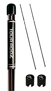 TourRodz Alignment Sticks - Golf Swing Trainer Color: Black