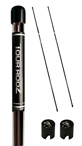 Tour Rodz Übungsschläger Alignment Sticks, Schwarz, 2 Stück (Golf-stick)