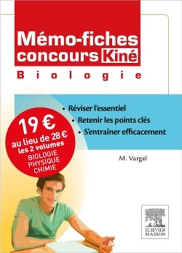 Mmo-fiches Concours Kin. Pack 2 volumes. Biologie - Physique/Chimie
