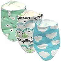 Bio-Baumwolle, hypoallergen, absorbierende, weiche Lätzchen-Set für Baby Newborn Geschenke für Kinderkrankheiten, Fütterung und Drooling
