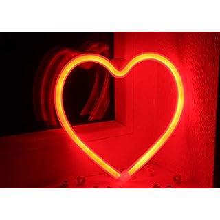 Led Herz Fenster Deko zum hängen oder stellen rot,Valentin,Batteriebetrieben oder für USB Anschluß Deko flex