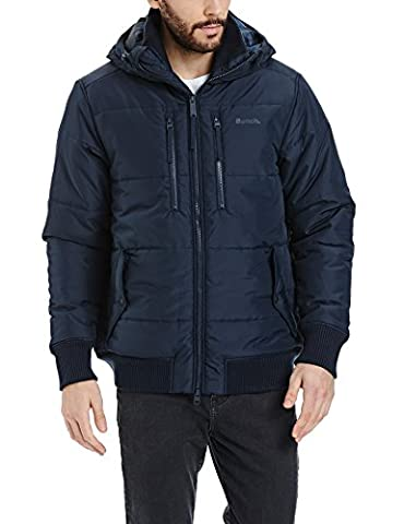 Bench Herren Jacke Armature, Blau (Dark Navy Blue NY031),