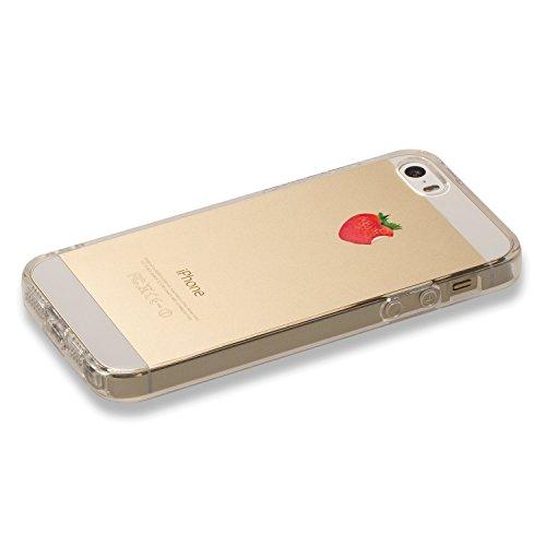 Pacyer® iPhone 6/6s Custodia Frutta TPU Gel Protettivo Anti-drop Skin Shell Case Cover Per Apple iPhone 6 6s (4,7) Fragola